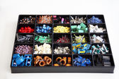 Box of electronic components — Stock Photo