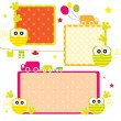 Cute cartoon frame — Stock Vector