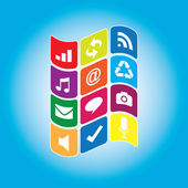 Falg sosyal medya — Stok Vektör