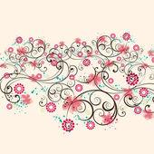 Fondo de flores retro — Vector de stock