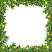 Christmas frame — Stock Vector