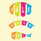 Verkauf von banner — Stockvektor