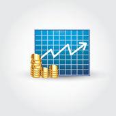 Grafikler ve para — Stok Vektör