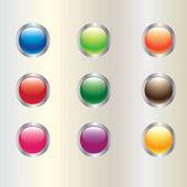 Glossy button vector — Stock Vector