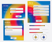 веб-элемент, финансы, бизнес — Cтоковый вектор