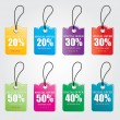 Discounts vector — Stock Vector