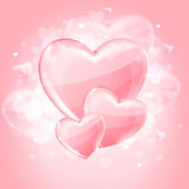 Valentine's day background with hearts — Stock vektor
