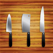 Kitchen knives — Stock Vector