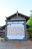 Lijiang: Badong pictograph — Stock Photo