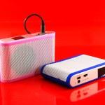 Modern speaker and Audio speaker — Stock Photo