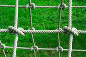 Tied knot on rope — Stock Photo