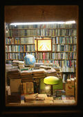Bookshop window — 图库照片