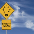 Bright Ideas Road Sign — Stock Photo #11817504