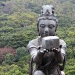 Offering for the Tian Tan Buddha - Stock Photo