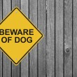 Stock Photo: Beware of Dog