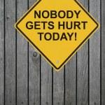 Ninguém vai se machucar hoje — Foto Stock