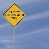 Safety Road Sign — Stock Photo