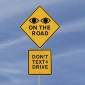 Ögonen på vägen — Stockfoto