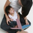 Womand Child Reading — Stock Photo #12563875