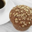 Oat Bran Muffin — Stock Photo