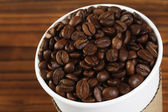 Coffee Beans in Paper Cup — Stock Photo