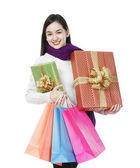 Holiday shopper — Stockfoto
