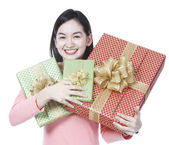 Young Woman With Presents — Stock Photo