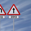 New Year Straight Ahead — Stock Photo