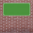 Blank Sign on Brick Wall - Stock Photo