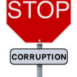 Stop Corruption — Stock Photo
