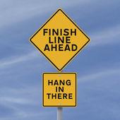 Finish Line Ahead — Stock Photo