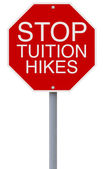 Stop Tuition Hikes — Stock Photo