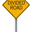 Divided Road — Stock Photo