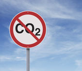 CO2 Road Sign — Stock Photo
