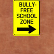 Bully-Free School Zone  — Stock Photo