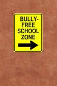 Bully-Free School Zone — Stock Photo