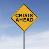Crisis Ahead — Stock Photo