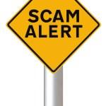 Scam Alert — Stock Photo
