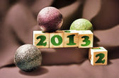 Happy new year 2013 blocks — Stock Photo