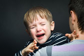 Portrait of a crying child — Stock Photo