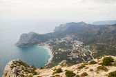 View from the mountain on the settlement the Novıy Svet, the Cr — Stock Photo