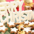 Christmas Cinnamon Cookies or Biscuits — Stock Photo #11992732