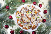 Biscotti with raisins, dried fruits and nuts — Stock Photo