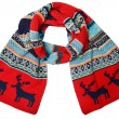 Stock Photo: Woolen knitted scarf with the Scandinavian pattern