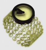 стильный современный золотой wristlewatch концепция иллюстрация — Стоковое фото
