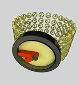 Zamknąć na koncepcji nowoczesny zegarek złoty — Zdjęcie stockowe