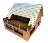 Isolated new pretty family house concept vizualization — Stock Photo
