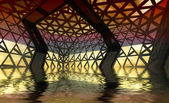 Afload arquitetura moderna projetado sala — Foto Stock