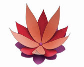 One isolated nice red purple petal waterlilly blossom — Stock Photo