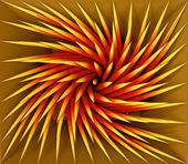 Spiky swirl shape tile pattern — Stock Photo